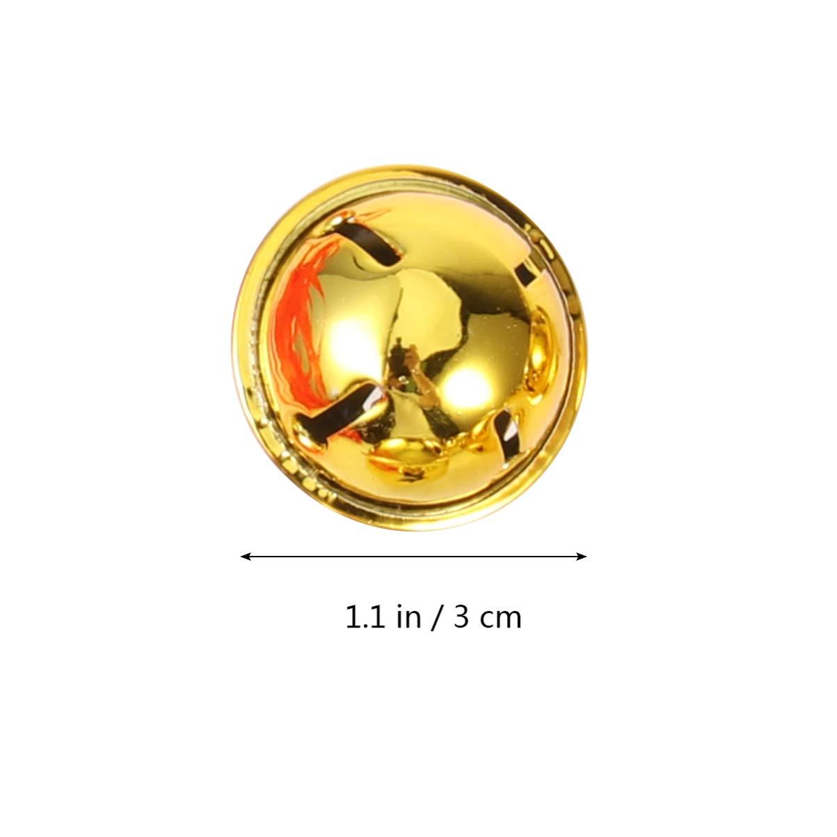 Amosfun Lot de 21 cloches d/écoratives de No/ël /à suspendre avec ruban 3 cm Fer dor/é 3 * 3CM