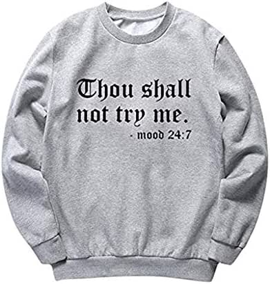 Ultramall Women's Tees Casual Letter Print Long Sleeve T-Shirt Top Fashion Pullover Sweatshirt
