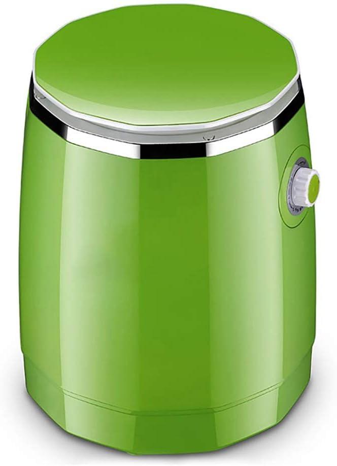XXYJ Lavadora portatil Tipo de Viaje Semi-automática Lavadora, ahorrando Espacio de Mini Lavadora, Lavadora portátil pequeño, Adecuado for el apartamento, Dormitorio (Verde, Rosa) (Color : Green)