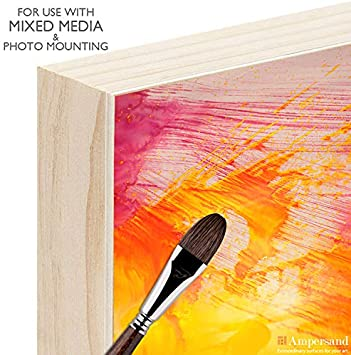 Ampersand Art Supply Unprimed Basswood Artist Panel 7//8 Cradled Profile 5x5,