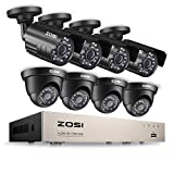 Best Bullet Surveillance Security Systems - ZOSI 8CH Security Camera System HD-TVI 1080N/720P Video Review