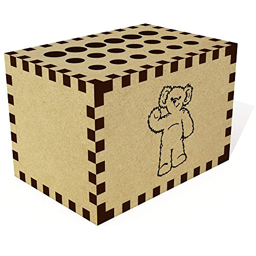 Azeeda 'Waving Teddy Bear' Pencil Block / Holder / Pot (PB00000449)