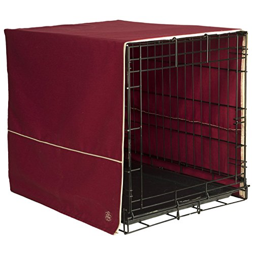 Large, Burgundy, Provides Proper Ventilation Crate Cover, 36″ L x 24″ W x 26″ H