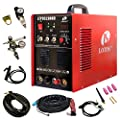 Lotos Technology 04-ZVGR-0O8D Lotos LTPDC2000D Plasma Cutter Tig Stick Welder 3 in 1 Combo Welding Machine, 50Amp Non-Touch Pilot Arc Plasma Cutter, 200A TIG/ Stick Welder Dual Voltage 220V/110V