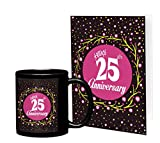 TiedRibbons Silver jubilee 25th Wedding Anniversary Gift for Parents Father Mother Brother Sister Friend Collegue Relatives Printed Coffee Mug(325 ml) with Greeting Card