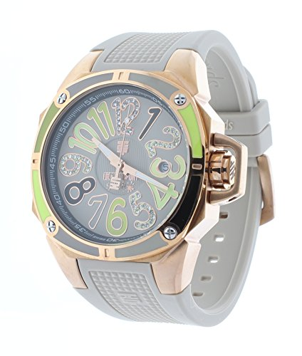 Technosport TS-200-SPLASH2 Womens Gray Watch Swarovski Multicolor Colorful Dial Markers Rose-Tone Case