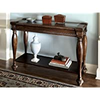 Dark Brown Rustic Living Room Sofa Table