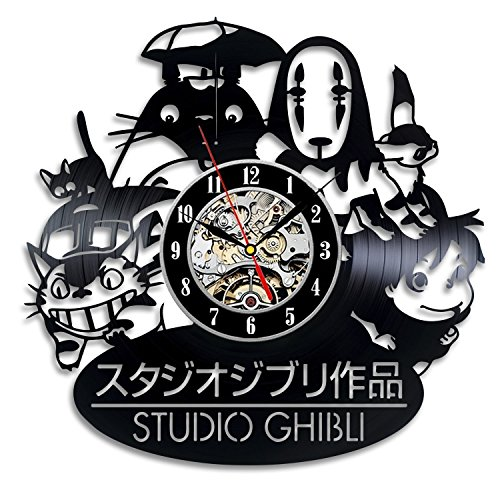 Meet Beauty Ding Studio Ghibli Anime Theme Vinyl Record Wall Clock 12