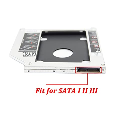 2nd 2.5 SATA HDD SSD Hard Drive Disk DVD CD ROM Optical SuperDrive Caddy Tray Adapter for Apple Unibody MacBook/MacBook Pro 13 15 17 Early mid Late ...