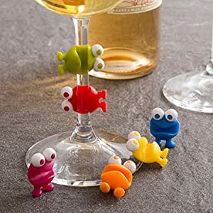 Joie Wine Watchers Silicone Wine Charm - Set of 6 - Pack of 2