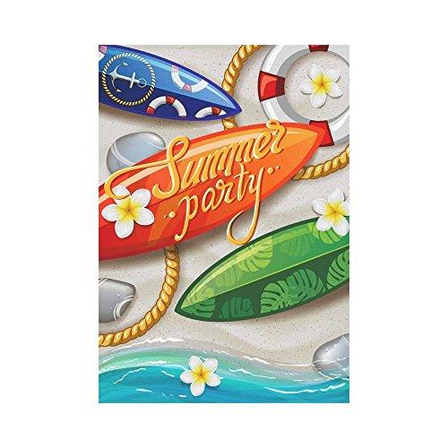 WAZZIT Beach Surfboard Polyester Garden Flag 28 x 40 inch Ho
