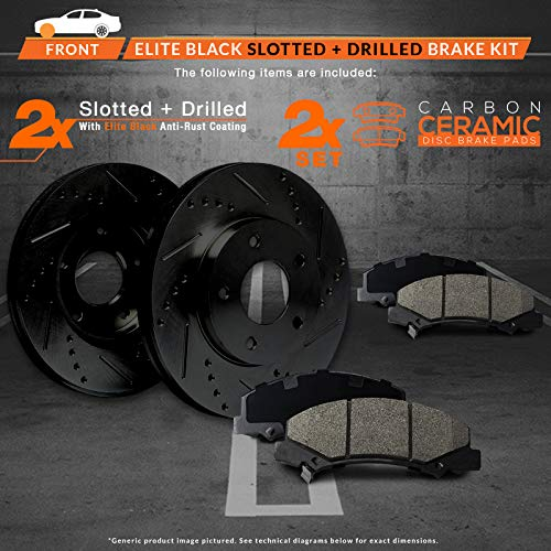 4 Front Rear Brake Rotors Metallic Brake Pads Set Fits 03-11 Honda Element 8