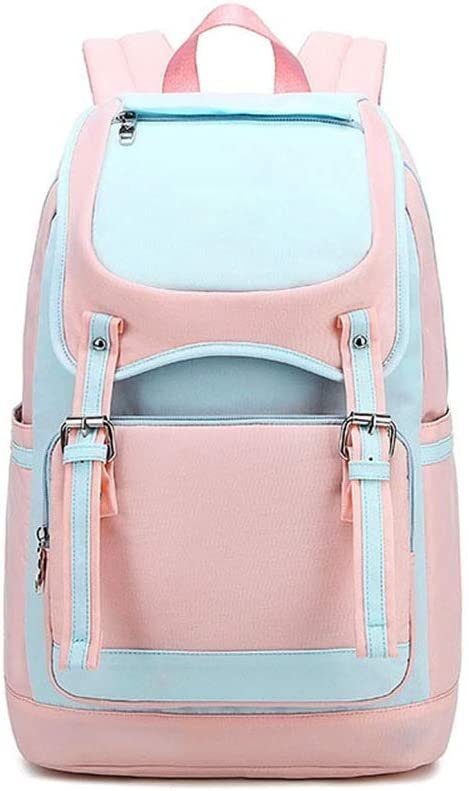 Women Fashion Backpacks Middle High College Backpack School Bag Backpack Laptop Backpack 16 Travel Waterproof Backpack for Women Men Color : Blue, Size : 31x16x45cm