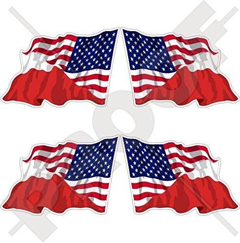 USA United States of America & POLAND American-Polish Flying Flag 2