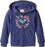 Roxy Toddler Girls' Autumn Wind Zip-up Sweatshirt, Deep Cobalt, 3