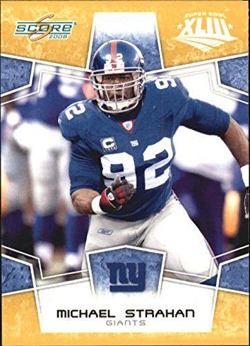 2008 Score Super Bowl XLIII Gold #214 Michael Strahan - Football Card