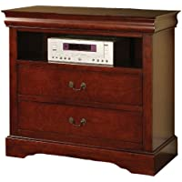 Acme 19527 Louis Philippe III TV Console, Cherry Finish