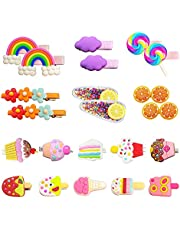 Hair Clips for Girls,22Pcs Candy Hair Barrettes Cute Rainbow Hair Accessories for Toddlers Little Girls Kids