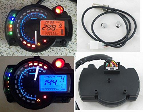 Reddragonfly 299 km/h LCD Digital Speedometer Tachometer Odometer
