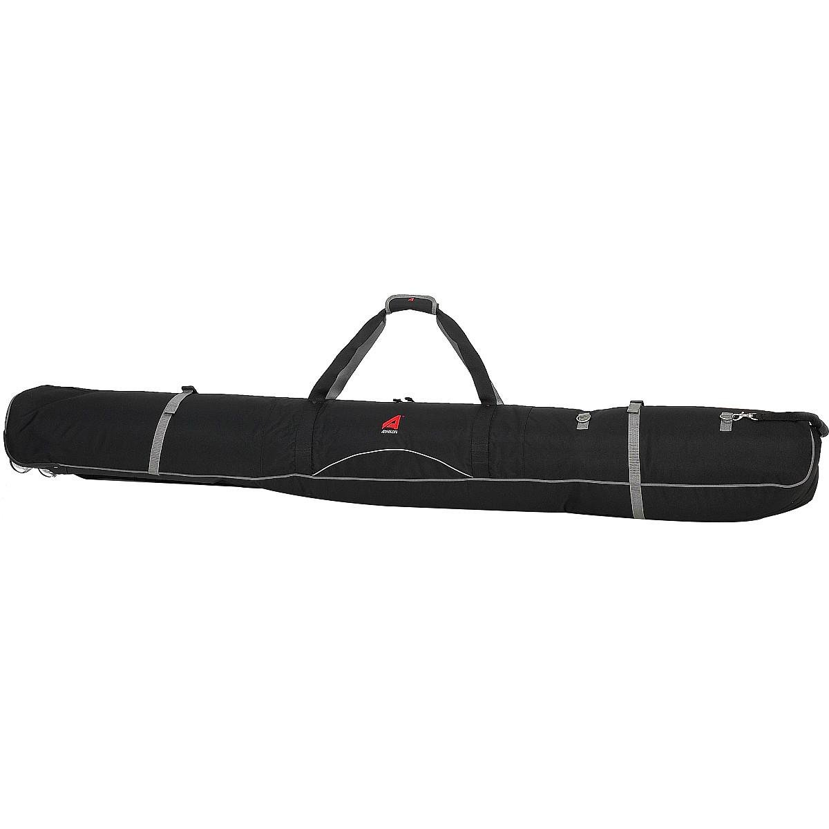 ATHALON WHEELING DOUBLE PADDED SKI BAG -190CM BLACK by Athalon