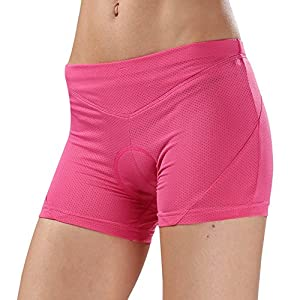 Womens Padded Bike Shorts Cycling Pants, 4D Gel Padded Biking Bicycle Cycling Brief Underwear Bike Shorts for Road & Mountain,Breathable,Lightweight,Cycling Clothing