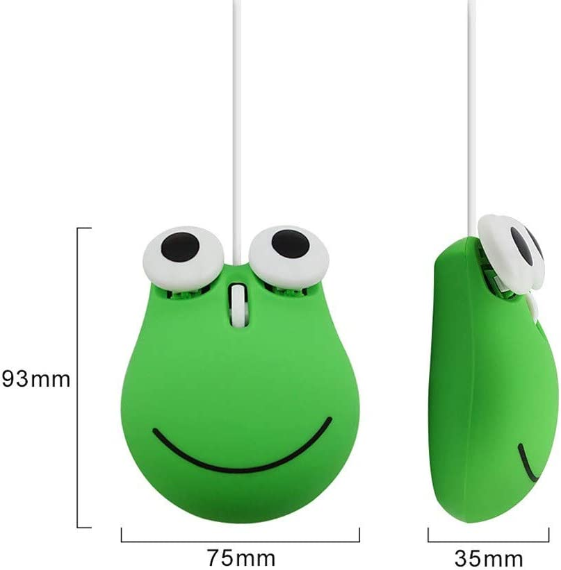 C sakd Wired Mouse Mute Gaming Mice 3D Optical Mouse 1600DPI Cartoon Ergonomic Design for Laptop PC Cable USB Laptop Home Office