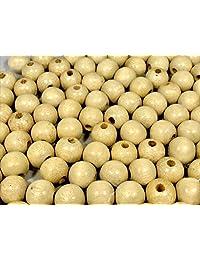 Frabels 100pcs Natural Color Large Hole Wood Beads (16mm)