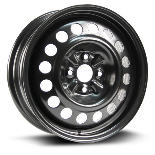 (RTX, Steel Rim, New Aftermarket Wheel, 15X5.5, 4X100, 54.1, 45, black finish X40957)