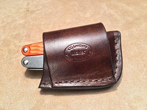 Custom Leather Crossdraw Sheath for LEATHERMAN Juice ()