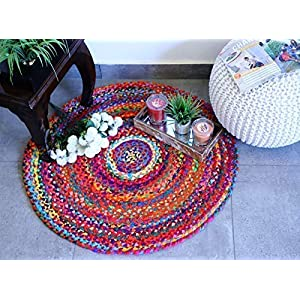 imsid Braided Carpet (Multicolour, Cotton, 60 Cm)