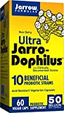 Ultra Jarro-Dophilus, 50 Billion Probiotic Organisms Per Capsule, For Intestinal/ Digestive Health, 60 Veggie Caps (Cool Ship, Pack of 3)