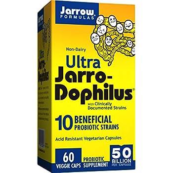 Ultra Jarro-Dophilus, 50 Billion Probiotic Organisms Per Capsule, For Intestinal/ Digestive Health, 60 Veggie Caps (Cool Ship, Pack of 3)