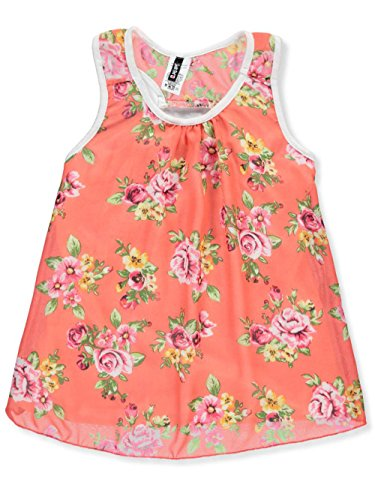 Insta Girl Big Girls' Top - Coral/Multi, 7-8 Insta Line