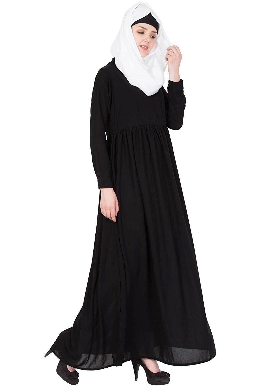Details about  /Radanya Women/'s Long Solid Abaya Jilbab Islamic Muslim Maxi Hijab Dresses
