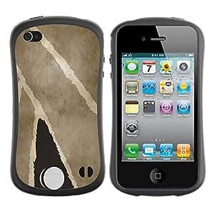 Be-Star Impreso Colorido Diseño Antichoque Caso Del iFace Primera Clase Tpu Carcasa Funda Case Cubierta Par Apple iPhone 4 / iPhone 4S ( Leaf Battern )