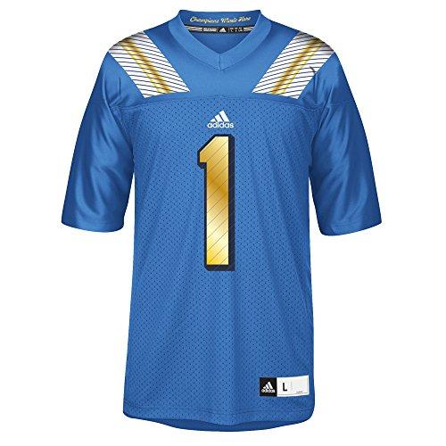 adidas NCAA UCLA Bruins Men's 3-Stripe Football Jersey, X-Large, Blue