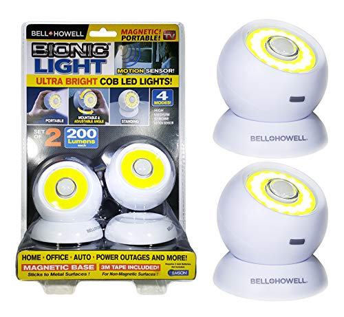 533d085481ea Bell and Howell Bionic Light Motion-Sensing, Portable, Powerful, Bright COB LED  Lights As Seen On TV (Set of 2)