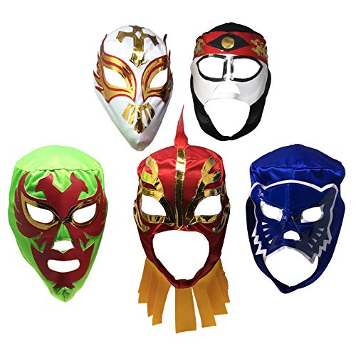 5PACK Mascaras de Luchador   Assorted Mexican Wrestling Masks   Excellent Costume for Mexican Fiesta - http://coolthings.us