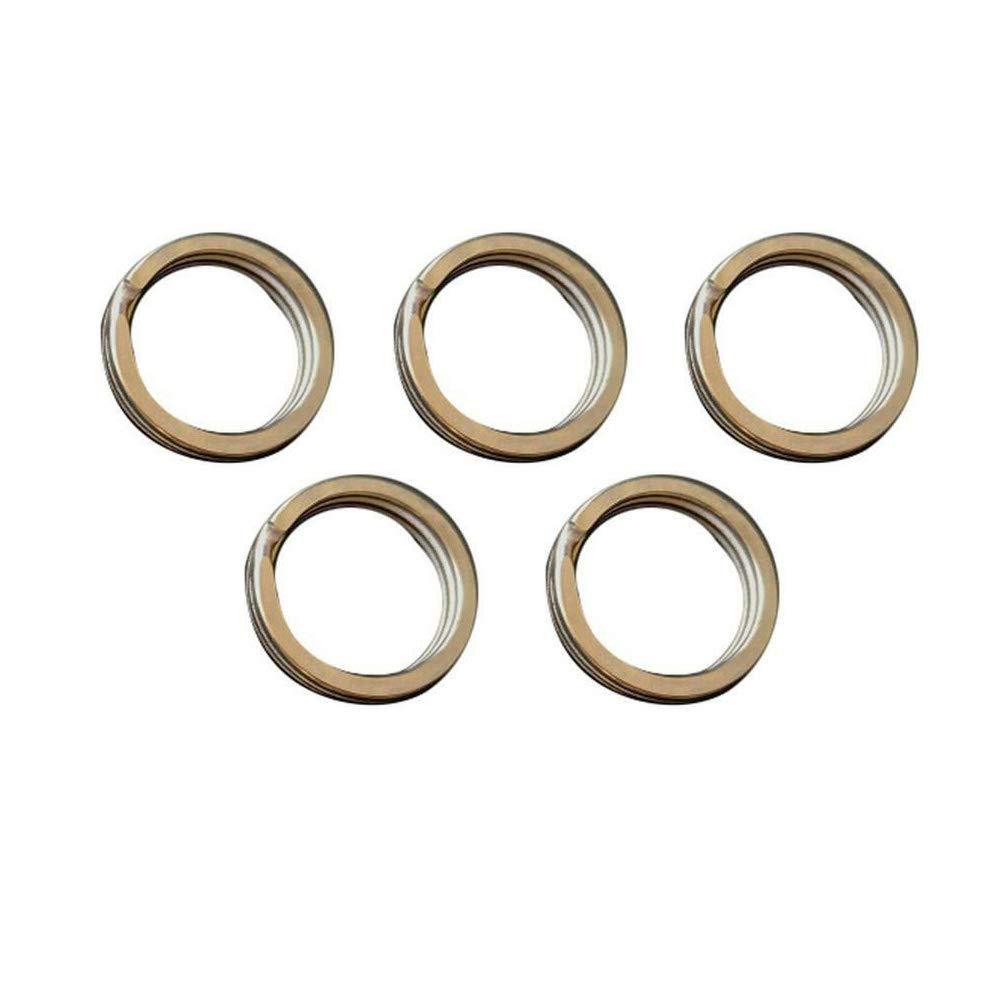 s/ólidos 5 unidades coche redondos 28 mm organizaci/ón llaves Llaveros de aleaci/ón de titanio como se muestra en la imagen Supertool para el hogar