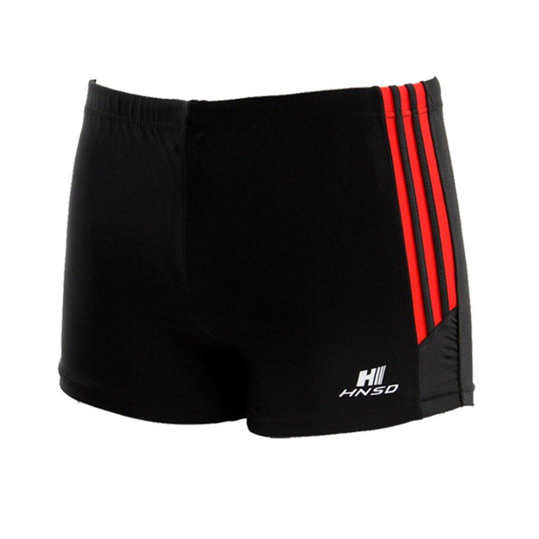 FEOYA Men's Square Leg Swimsuit Swimming Brief Swimming Trunks Swimming Shorts Size XXL - Black by FEOYA (Image #1)
