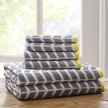 Groovy Intelligent Design Nadia Quick Dry Premium Absorbent Chevron Cotton Towels Bath Bathroom Set Ultra Soft Bathroom Towels Set Gray 6 Piece Set Download Free Architecture Designs Estepponolmadebymaigaardcom