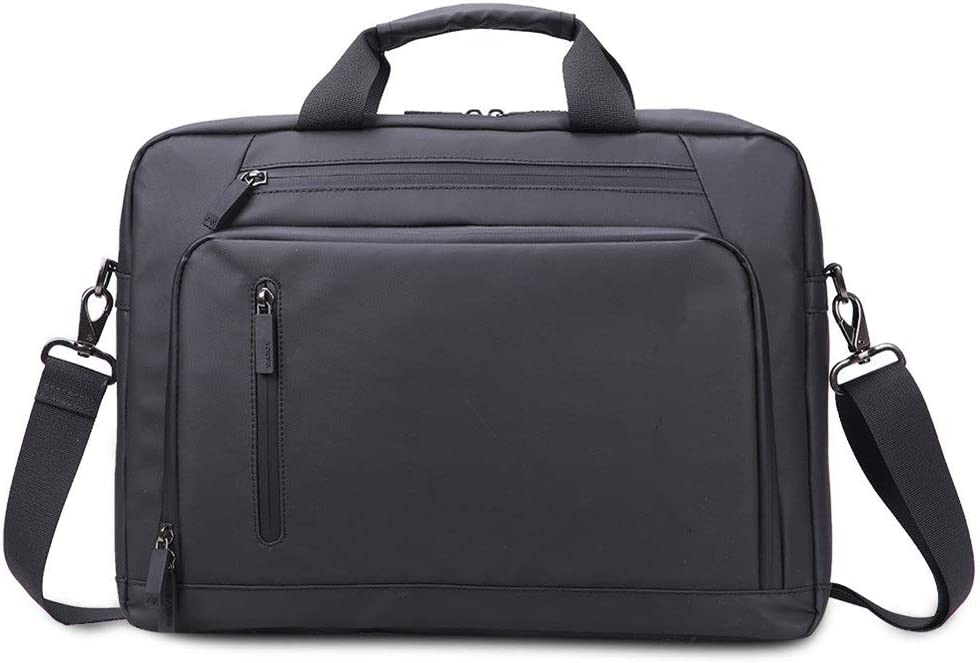 QERNTPEY Briefcase for Men 15.6 Inch Laptop Briefcase Messenger Shoulder Bag with Strap Office Bag Messenger Briefcases for Men and Women Bussiness Bag Color : Black, Size : 41630cm