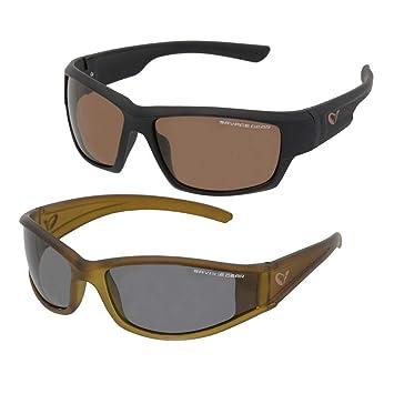 Savage Gear Slim Tonos Flotante Gafas de Sol Polarizadas - Gris Oscuro (Soleado)