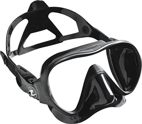Aqua Lung Linea Single Lens Dive Mask, All Black Aqualung Diving Gear