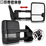 SCITOO Towing Mirrors Compatible fit for 2007-2014 Chevy GMC Silverado Suburban Towing Door Side Mirrors Pair Set Mirrors (07-14 Power Heated Signal Clearance)