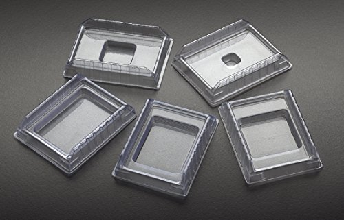Simport M475-5 PVC Disposable Base Mold, 24mm W x 37mm L x 5mm H (Case of 1000) by Simport