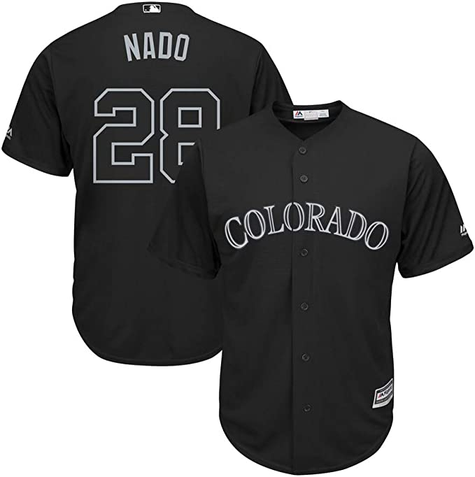 GHQROGBY Camisetas Personalizadas Beisbol Athletic Colorado Rockies # 28 Arenado Rayas/Púrpura/Negro/Negro Oro, Tamaño: M-3XL,Black,Men-M: Amazon.es: Deportes y aire libre