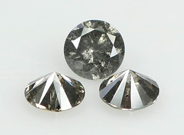 RG-230 Natural Loose Salt and pepper diamond Round cut Gray 0.312 Ct