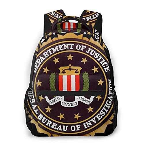 School Backpack College Fashion Printed FBI CIA SS (5) Laptop Travel Bag
