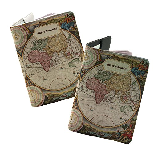 Couple Collection ✮ Personalized Passport Holder ✮ Travel Wallet ✮ Printed with Premium Quality Ink ✮ Free Custom Name Print ✮ Best Travel Gifts ✮ Leather Passport Cover By Handmade (Fun Couples)